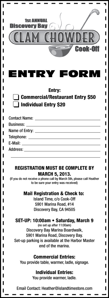 Chowder Entry Form