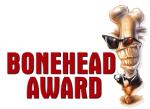 BONEHEAD AWARD GRAPHIC