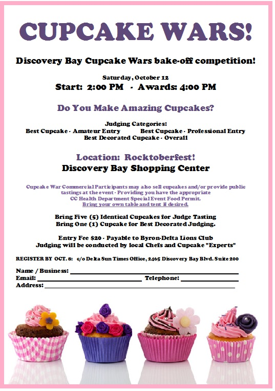 Cupcake Wars, Discovery Bay – Oct. 12 | Delta Sun Times ...