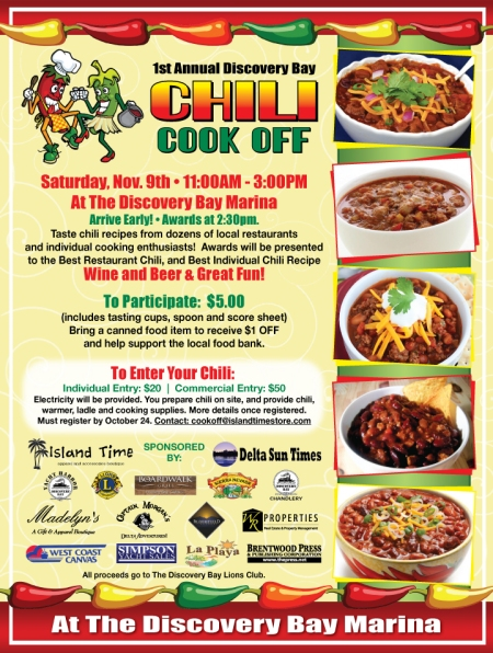 Discovery Bay Chili Cookoff, November 9