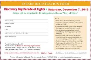 parade 2013 registration