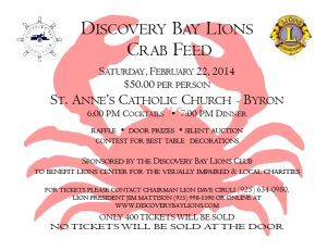 lions crab feed